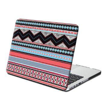 GMYLE Frosted Print Rubber Coated Hard Case for Macbook Pro Retina 13-Inch - Squama Grey Aztec