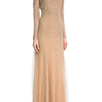 Jenny Packham - Embellished Floor-Length Gown