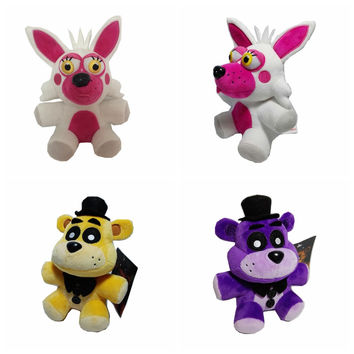 1pcs 4 FNAF Freddy Foxy stuffed animals Fox Toys