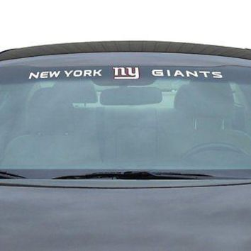 New York Giants NFL Licensed Auto Car Truck Windshield Decal