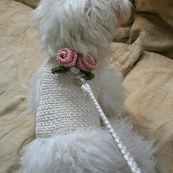 Dog Harness, Pets clothing, Crochet harness, Designer Dog Clothes, Dog Apparel by BubaDog
