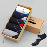 2016 New Mens Comfortable Sports Casual Bicycle Ankle Socks (5 PCS) Socks-49