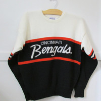 Cliff Engle Bengals Sweater Vintage 80s