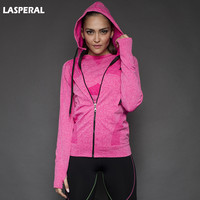 LASPERAL 2016 Women Hoodie Jackets Hat Zipper Outerwear Hoodies Long-Sleeve Zip-up Workout Sweatshirt Jacket Women Fitness Tops