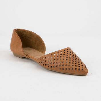 BAMBOO Cutout Pointed Toe Womens Flats