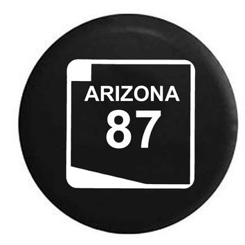 Arizona State Route Highway 87 Scenic Road Sign RV Camper Jeep Spare Tire Cover