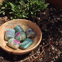 Ruby Zoisite Tumbled
