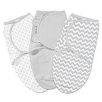 SwaddleMe 3 Pack Grey Chevron and Stars - Small