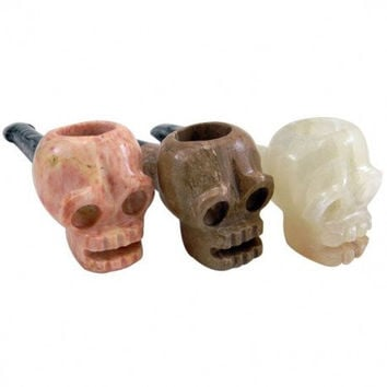 Onyx Mini Two-Toned Skull Hand Pipe
