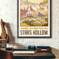 "Stars Hollow ""Autumn Festival"" Travel Poster - Inspired by Gilmore Girls"