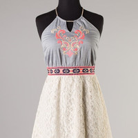 Embroidery and Laced Dress