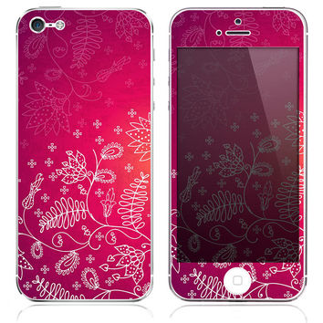Pink Floral Skin for the iPhone 3gs, 4/4s, 5, 5s or 5c
