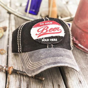 Ice Cold Brew Vintage Baseball Hat