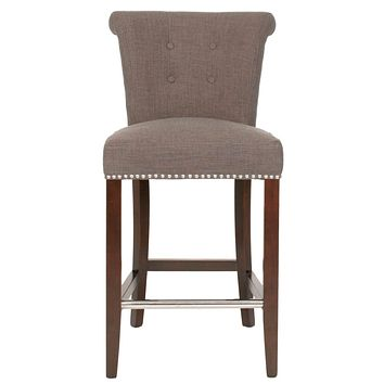 Luxe Counter Stool Sepia Fabric