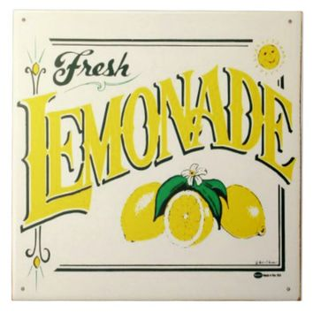 Vintage fresh lemonade sign ceramic tile. ceramic tile