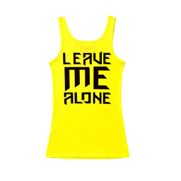 Ladies Leave Me Alone Tank Highlighter Yellow