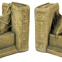 Cool Vampire Bat Medieval Bookends - Traditional - Bookends - by Zeckos