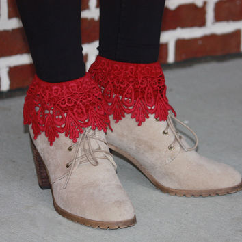 Burgundy Boot Toppers