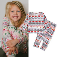 Baby Girls Christmas Pyjamas Set 1-6Y
