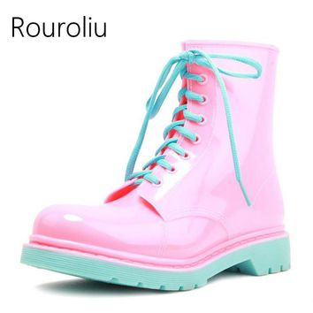 2017 Fashion Women Rain Boots Anti-slip Waterproof Water Shoes Jelly Ankle Rainboots Wellies Boots Multi Colors  TS192