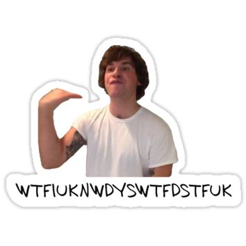 'What The F*** is up Kyle' Sticker by Evanc18