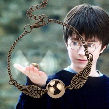 Harry Potter Deathly Hallows Golden Snitch Bracelet