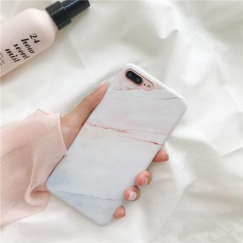 Ins hot coral marble tpu case for iphone 7 7Plus Stone Pattern Soft TPU Case for iphone X 6 6s 6Plus 8 8plus back cover