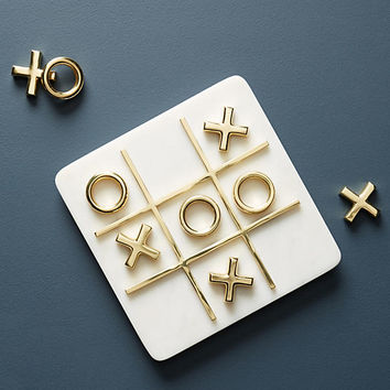 Marble Tic-Tac-Toe Set