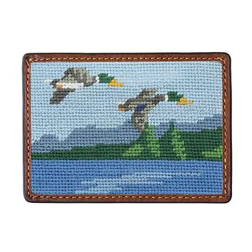 Great Outdoors Needlepoint Credit Card Wallet by Smathers & Branson