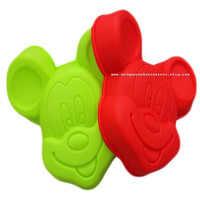 Mickey Minnie Mouse - Flexible Silicone Bakeware Baking Pan Cake Biscuit Chocolate Candy Jelly Soap Candle Mold