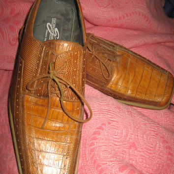 vtg Men's Giorgio Brutini Private Collection 2 tone brown lacers Shoes Size 10 1/2 m