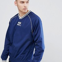 Nike Archive Woven Logo Sweat In Navy AA0001-429 at asos.com