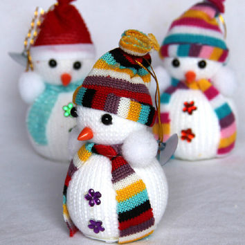 1pc Christmas Snowman Tiny Doll Gift Ornament