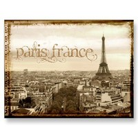 paris france vintage look post card from Zazzle.com