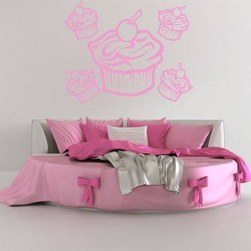 Vinyl Wall Decal Sticker Cupcakes #OS_AA186