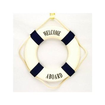 Beachcombers International 14`` Welcome Aboard Life Ring - Wall Hanging
