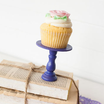 Mini Wooden Cupcake Stands - Purple