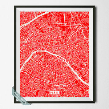 Paris Print, France Poster, Paris Poster, Paris Map, France Print, Street Map, France Map, Europe Map, Home Decor, Wall Art