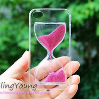 pink,blue sandglass iphone 4 case ,iphone 5case,hourglass iPhone 4/4S /5/5s/5c Hard Case,sandy clock iphone case