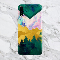 Trippy Evergreen Forest x Chevron Swirl - iPhone X - iPhone 8 Plus - Protective iPhone Case - Galaxy s8 - Samsung Galaxy Case - Note 8