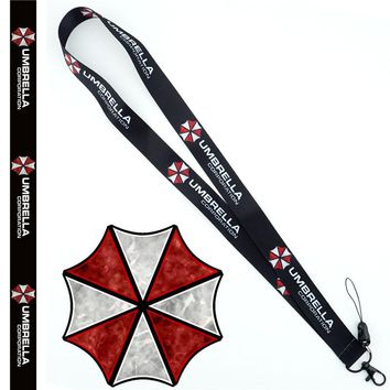 Resident Evil Umbrella Neck Strap Lanyard Mobile Phone Strap ID Badge Holder Rope Key Chain Key rings cosplay Accessories Gift