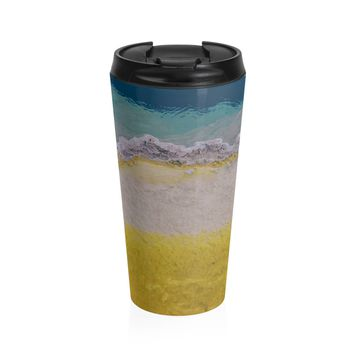 Abstract Yellowstone Geyser II Coffee Cup - Stainless Steel Travel Mug
