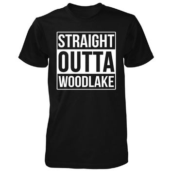 Straight Outta Woodlake City. Cool Gift - Unisex Tshirt