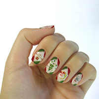 One Sheet Xmas Series Pattern Water Transfer Print Nail Sticker