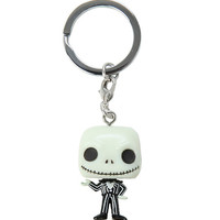 Funko The Nightmare Before Christmas Pocket Pop! Jack Skellington Key Chain Glow-In-The-Dark Hot Topic Exclusive