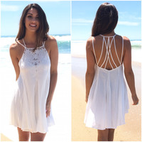 Lighten Up Dress In Ivory