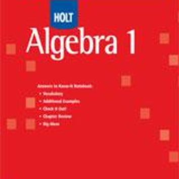 Holt McDougal Algebra 1 Know-It Notebook Teacher's Guide (No Transparencies)