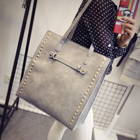 Winter Rivet Bags Simple Design Vintage Shoulder Bags Sponge [6582345223]