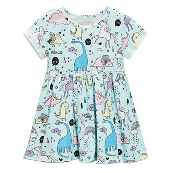 Baby Girls Dress Summer Unicorn Costume for Kids Clothing Children Party Dresses Animal Girls Clothes Princess Dress