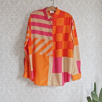 Vintage 1980s Bold + Abstract Blouse